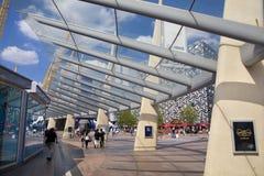 O2 Arena, way to the main entrance Stock Photo