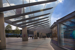 O2 Arena, way to the main entrance Royalty Free Stock Photos
