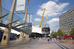 O2 Arena, way to the main entrance Stock Images