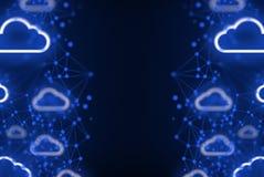 O armazenamento digital da nuvem da segurança do Internet conecta ao fundo da rede Imagem de Stock Royalty Free