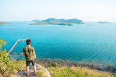 O arquip?lago o mais bonito do ponto de vista em Sattahip Chonburi, Tail?ndia imagens de stock royalty free