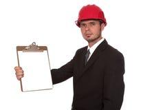 O arquiteto do inspector Foto de Stock Royalty Free