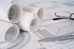 O arquiteto planeia a série Imagens de Stock