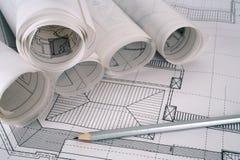 O arquiteto planeia a série Fotografia de Stock