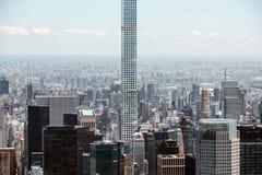 O arranha-céus residencial o mais alto dos mundos em Manhattan Foto de Stock