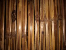 O arranjo da madeira de bambu Fotos de Stock Royalty Free