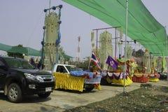 O arroz envolve o festival, TAILÂNDIA Foto de Stock