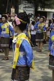 O arroz envolve o festival, TAILÂNDIA Fotografia de Stock