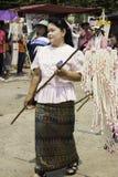 O arroz envolve o festival, TAILÂNDIA Imagens de Stock