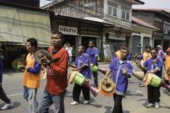 O arroz envolve o festival, TAILÂNDIA Foto de Stock Royalty Free