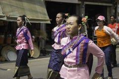 O arroz envolve o festival, TAILÂNDIA Imagem de Stock