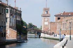 O Arsenale, Veneza Foto de Stock