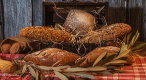 O artesão pana em uma arca do tesouro com fundo de madeira foto de stock royalty free