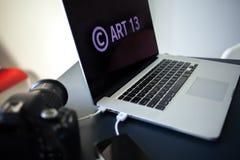 O artigo 13 a alteração à legislação de UE proibiu materiais dos meios no Internet foto de stock royalty free