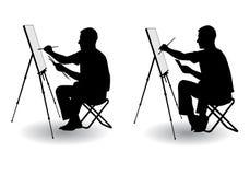O artista desenha Imagens de Stock Royalty Free