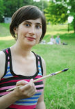 O artista em um ao ar livre Imagens de Stock