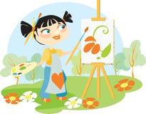 O artista em um ao ar livre Imagem de Stock Royalty Free