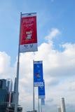 8o Asean Paralympic Singapura 2015 bandeiras Foto de Stock