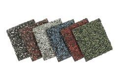 O asfalto shingles amostras Imagens de Stock