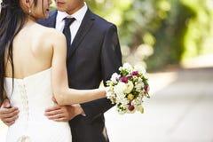O asiático loving novo-wed foto de stock