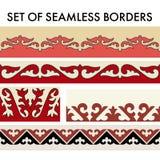 O asiático ornaments a coleção Historicamente ornamental de povos nômadas ilustração stock