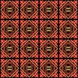 O asiático ornaments a coleção Historicamente ornamental de povos nômadas Baseou nos tapetes do real-Cazaque do feltro e das lãs ilustração royalty free