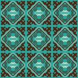 O asiático ornaments a coleção Historicamente ornamental de povos nômadas Baseou nos tapetes do real-Cazaque do feltro e das lãs ilustração stock