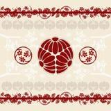 O Asian projeta o fundo ilustração royalty free