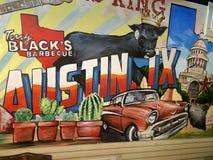 O assado de Terry Black em Austin TX Fotos de Stock