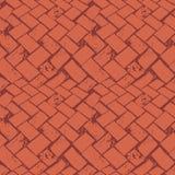 O assoalho abstrato do terraço tece a textura de pedra do grunge Teste padrão sem emenda do vetor no fundo queimado de Siena co ilustração do vetor