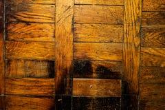 O assoalho de madeira velho fotografia de stock