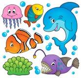 O assunto da fauna do oceano ajustou 1 Imagens de Stock