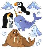 O assunto dos animais do inverno ajustou 1 ilustração stock