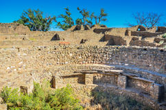 - O asteca arruina o monumento nacional - asteca interior, nanômetro imagens de stock