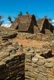 O asteca arruina o monumento nacional em New mexico Fotos de Stock Royalty Free