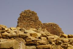 O asteca arruina paredes no monumento nacional asteca imagens de stock royalty free