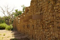O asteca norte da parede arruina o monumento nacional fotografia de stock royalty free