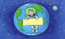 O astronauta Fotos de Stock Royalty Free