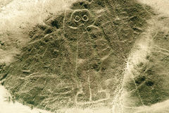 O astronauta - linhas de Nasca - Peru fotografia de stock