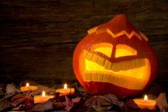 O& asustadizo x27 de Jack de la calabaza de Halloween; Linterna Foto de archivo
