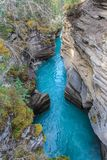 O athabasca pitoresco cai rio Canadá Fotografia de Stock