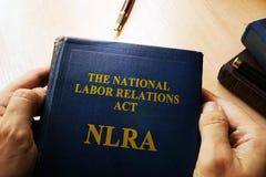 O ato nacional NLRA das relações laborais fotografia de stock