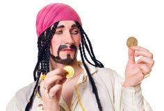 O ator em um terno do pirata foto de stock royalty free