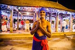 O ator idoso vestiu-se acima para Kandy Esala Perahera Fotografia de Stock Royalty Free