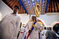 O ator idoso vestiu-se acima para Kandy Esala Perahera Foto de Stock