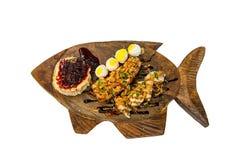 O atum do queijo e chichen entradas Foto de Stock Royalty Free
