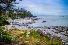 O au bonito Haut de Duck Harbor Isle no parque nacional do Acadia, Maine fotos de stock