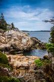 O au bonito Haut de Duck Harbor Isle no parque nacional do Acadia, Maine imagens de stock