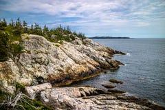 O au bonito Haut de Duck Harbor Isle no parque nacional do Acadia, Maine fotografia de stock