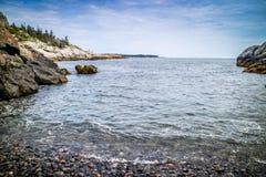 O au bonito Haut de Duck Harbor Isle no parque nacional do Acadia, Maine foto de stock
